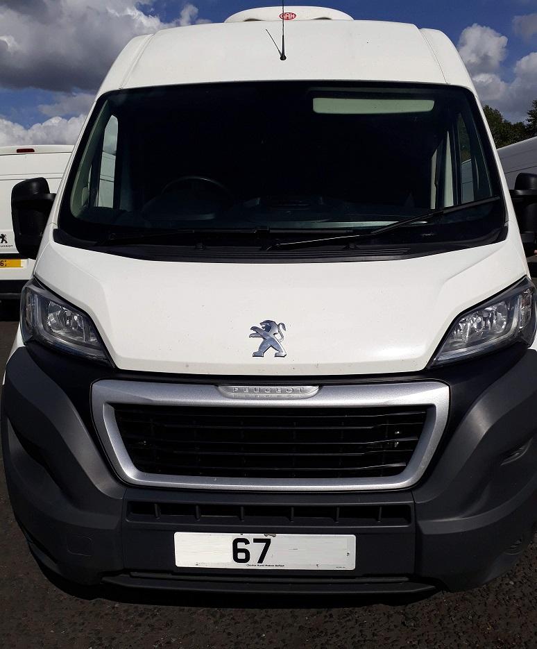 icicle fridge vans dot com Peugeot Boxer chiller for sale tel 0345 5760 792